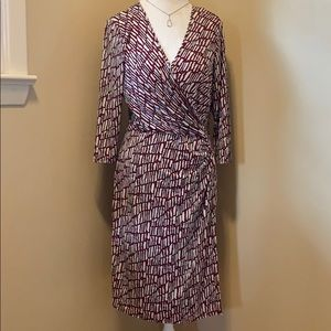 Laundry Faux Wrap Dress 👗 - Size 14